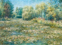 nymphéas à giverny by blanche hoschedé-monet