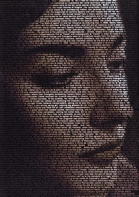 text portrait (maria callas) by ralph ueltzhoeffer