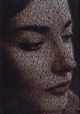 text portrait (maria callas) by ralph ueltzhoeffer