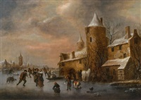 winterlandschaft by klaes molenaer