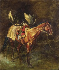 saddled horse by william j. koelpin