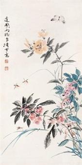 萱草秋虫 by wang xuetao