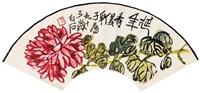 red chrysanthemum by qi baishi