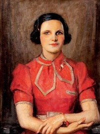 lady in red by john henry amshewitz