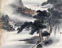 溪山远眺图 by fu baoshi