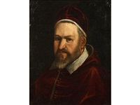 portrait of pope paul v, bust-length, in papal robes by ottavio maria leoni
