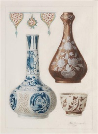chinese porcelain vessels by jules ferdinand jacquemart
