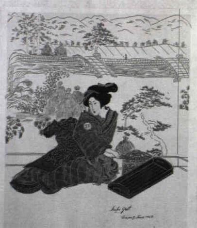 konvolut japanerinnen in verschiedenen interieurs ua by margarethe strasser