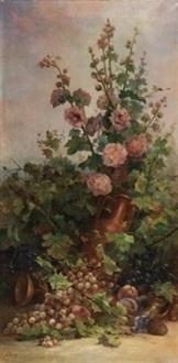 rosal con frutas y cántaro by sebastian gessa y arias