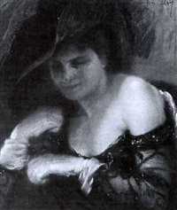 an elegant lady by joseph-marius avy