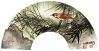 花鸟 镜框 设色纸本 by chen peiqiu