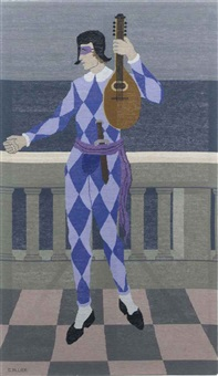harlequin tapestry by georges allier
