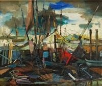 bateaux de pêche à zeebrugge by guy cambier