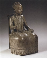 figure of a seated girl by chitqua