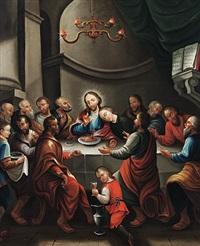 christus im kreis der jünger beim letzten abendmahl by josef bader