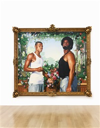 charles i and henrietta maria (after anthony van dyck) by kehinde wiley