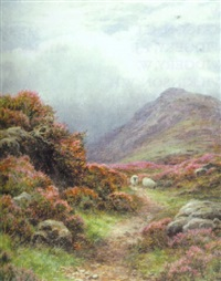 a path on knocknarling hill, newgalloway by james faed the younger