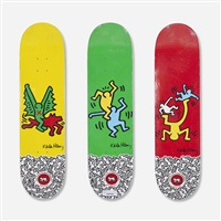 skatedecks (set of 3) by keith haring