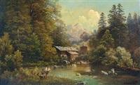 angler am waldsee by adalbert waagen