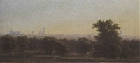 dessau seen from schloß luisium by herzog léopold friedrich zu anhalt