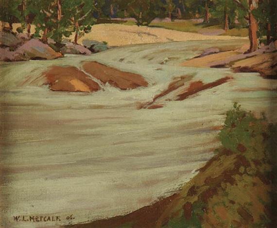 winter brook by willard leroy metcalf