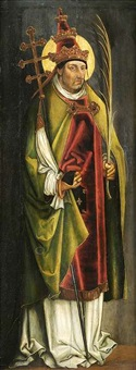 bildnis eines heiligen papste by leonhard beck