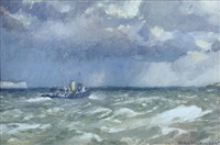 channel pilot off the foreland by norman wilkinson