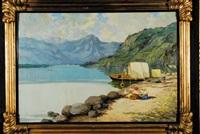 paesaggio con lago by guiseppe riva
