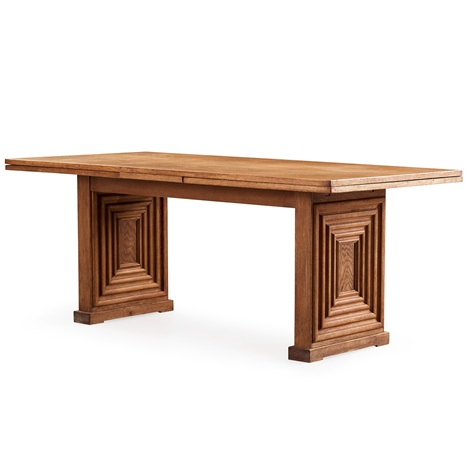 a swedish modern oak dining table by oscar nilsson