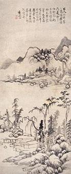 明代 楼阁山人图 by yun xiang