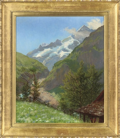 spring time in the alps by w savage cooper