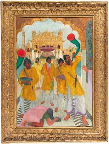 der goldene tempel von amritsar by marcel amiguet