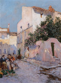 venditrici di angurie a capri by raymond allègre