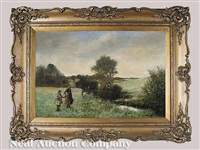 the edge of the field (+ on the way to town; pair) by norman m. macdougall