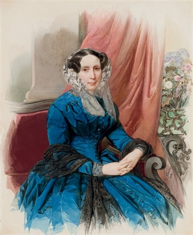 portrait of princess shakhovskoy by vladimir ivanovich hau