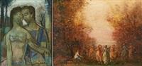 les amoureux et farandole (2 works) by guy cambier