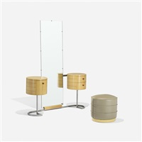 vanity and stool, model 3323 (pair) by gilbert rohde