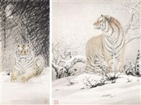 雪域雄风 (various sizes; 2 works) by liu rongsheng