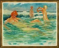 bathing nudes on the beach by martin konopacki