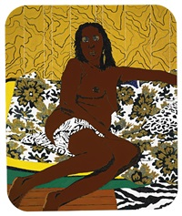 mama bush ii, keep the home fires burnin' by mickalene thomas