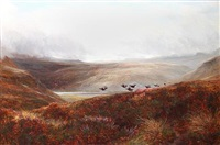 red grouse rising by charles thomas burt