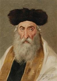 portrait of a rabbi by maximilian sandoz
