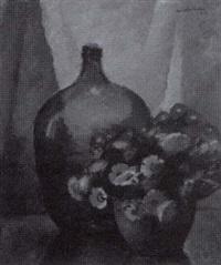kukka-asetelma - stilleben med blommor by werner åström