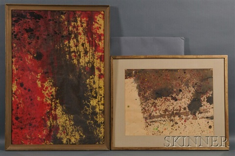 two abstract works by taro yamamoto