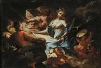 allegoria della fortezza (+ allegoria della pittura; pair) by francesco conti