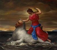 mythological creatures: rape of europe by vitaly komar