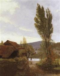 schwarzwaldtal im licht der abendsonne by karl august lindemann-frommel