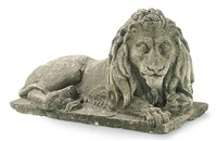 recumbant lion (model) by courtrois