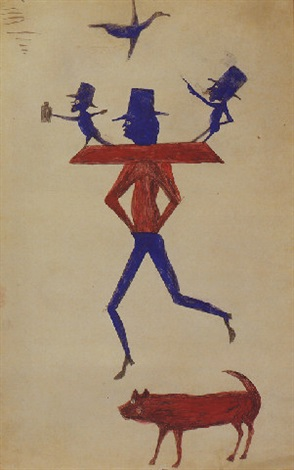 man with yoke by bill traylor
