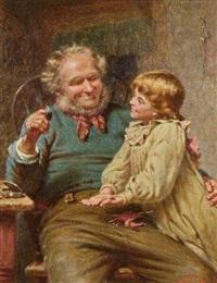 großvater mit seiner enkelin by edwin thomas roberts